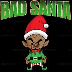 Bad+Santa+Poster+by+IamNinjaD+on+CreativeAllies.com