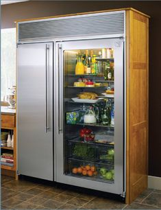 glass door refrigerator- I wouldn't want the contents continuously displayed, but it would be cool if there was an option to change it to opaque and then clear when you wanted something in it- save energy from opening the fridge and looking everywhere