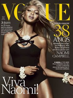Naomi Campbell Goes Blonde for Vogue Brazil's May 2013 Cover