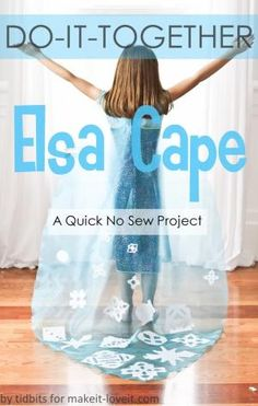 No-Sew ELSA CAPE (from Frozen) --- Make It and Love It by autumn