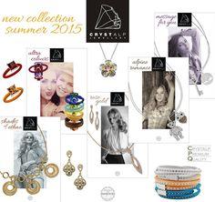 CRYSTALP Summer 2015 Allergy Free, Summer 2015, Precious Metals, Swarovski, Fashion Jewelry, Colours, Jewellery, Crystals, Gold