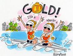 Goud Ilse en Maaike! Olympische Spelen Rio 2016 by Blond-Amsterdam