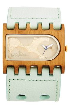 Mistura 'Ferro Santa Elena' Handcrafted Wood Watch, 39mm x 47mm available at #Nordstrom
