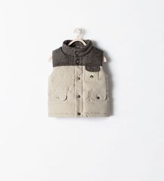 Image 1 of MIXED FABRIC MARL VEST from Zara