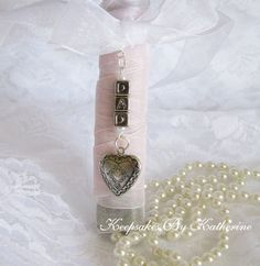 Dad Bouquet Locket Bridal Charm by Keepsakes By Katherine if want it to say papa though