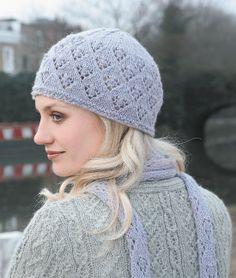 Free knitting pattern - Cate Hat and Scarf in Rowan Baby Alpaca DK: http://www.mcadirect.com/shop/rowan-baby-alpaca-dk-p-1104.html