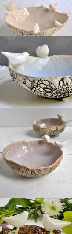 Family Bowl or LoveBirds Bowl- custom made for your family from Lee Wolfe Pottery by aileen