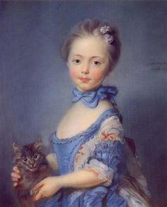 Jean Baptiste Perroneau 'Girl With A Kitten'