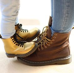 Kids Delaney Boot and Brown 1460s. Shared by amariscirela on Instagram.