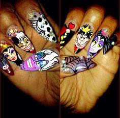 Nailsbyly Disney villans