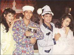 Salman, Aamir, Raveena, Karishma Andaz Apna Apna