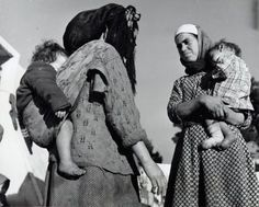 Jewish mothers with their children. Casablanca, Morocco, c. 1948