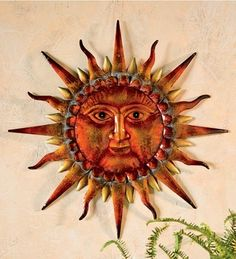 WindWeather Wise Sun Face Metal Wall Art in Summer 2013 from Wind & Weather on shop.CatalogSpree.com, my personal digital mall.