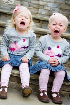 Hayden Grace & Tatum Olivia were not happy about taking their 2 Years Old pictures! They were cold:(... *Greenville, SC