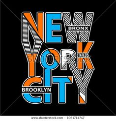 new york typography t shirt printing vector