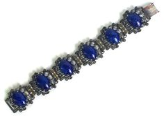 Blue Link Bracelet by WhirleyShirley on Etsy