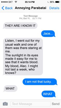 Texts from Shadowhunters