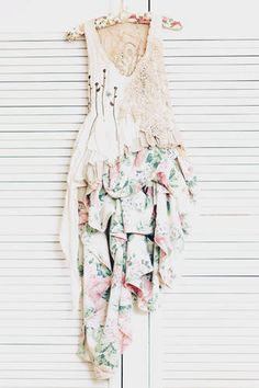 Secret Garden altered scrap dress - absolutely love everything about this