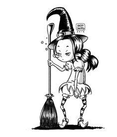 The Grumpy Little Witch Riona by chuunin7.deviantart.com on @DeviantArt