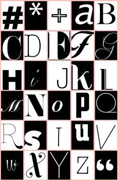 Free printable minimal alphabet perfect for all your crafting and decor needs via ajoyfulriot.com @ajoyfulriot