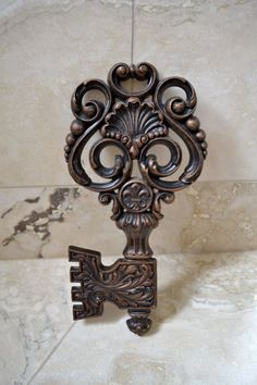 Large Skeleton Key - Decorative Wall Hanging - Vintage Key. via Etsy.