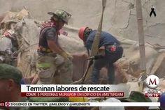 Entre escombros rescatistas cantan himno en honor a víctimas - Milenio.com