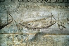 Tomb of Amenemhat. Detail: mural painting depicting a boat. (Photo By DEA / G. SIOEN / De Agostini / Getty Images)