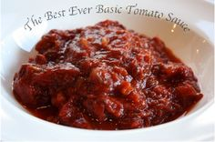 The Best Ever Homemade Tomato Sauce needs to simmer on the back of your stove all day. A no-fail, step-by-step photo essay. Delicious and Healthy! Jelly Recipes, Donut Recipes, Cooking Recipes, Crabapple Jelly Recipe, Angle Food Cake Recipes, Potato Pasta, Macaroon Cookies, Homemade Tomato Sauce, Coconut Macaroons