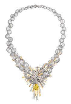Yellow and white gold, diamonds, yellow sapphire High Jewelry, Pearl Jewelry, Jewelry Art, Diamond Jewelry, Antique Jewelry, Jewelry Accessories, Jewelry Necklaces, Fashion Jewelry, Jewelry Design