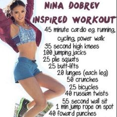 Nina Dobrev Workout! I think I might be able to do it