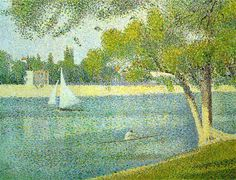 Pointillism by Seurat. Pointillism is a technique of painting in which small, distinct dots of pure color are applied in patterns to form an image. Georges Seurat and Paul Signac developed the technique in branching from Impressionism. Georges Seurat, Père Lachaise Cemetery, Seurat Paintings, Georgia O'keeffe, Painting Prints, Art Prints, Painting Styles, Museum Of Fine Arts, Art Plastique