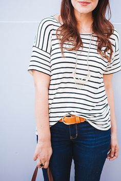Kendi Skeen: casual stripes and jeans
