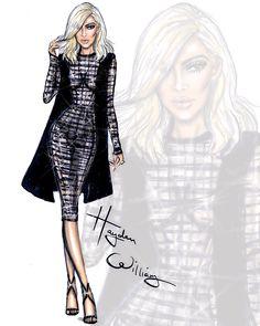 Kim& blonde ambition by Hayden Williams Illustration Mode, Fashion Illustration Sketches, Fashion Design Sketches, Fashion Drawings, Hayden Williams, Kim Blonde, Fashion Art, Trendy Fashion, Fashion Clothes