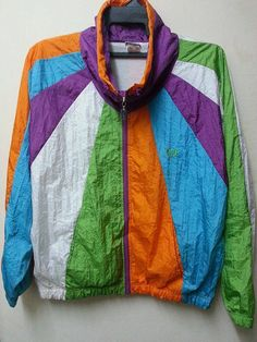 37f794cf5a7c Sale Vintage 1980s Sergio Tacchini Sweater Neon by SuzzaneVintage Cross  Body, Colorful Fashion, Street