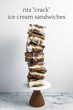 """ritz """"crack"""" ice cream sandwiches 