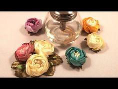 Narrow ribbons cornflower / Cornflower hecho de cintas estrechas / Василек из узких лент - YouTube