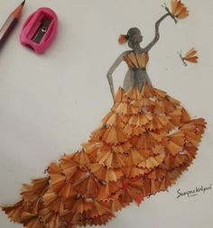 easy craft (from pencil waste )