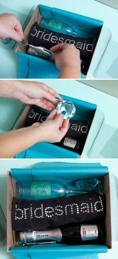 Cute bridesmaids box idea!
