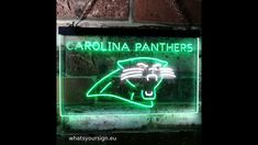 Carolina Panthers Football, Led Neon Signs, Neon Lighting, Decorative Accessories, House Warming, Vibrant Colors, Bar, Decoration, Amazing