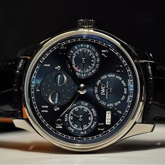 The stunning blue dial Portugieser Perpetual Calendar with double moon phase  #watch #watchporn #luxury #lifestyle #rich #money #millionaire #billionaire #iwc #dubai #moon
