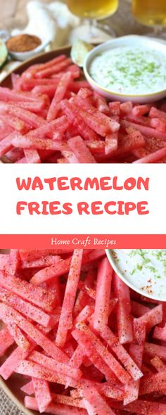Snack time calls for these Watermelon Fries with a Coconut Lime Dip. These watermelon fries are vegan and gluten free. Healthy Summer Snacks, Healthy Dips, Vegan Snacks, Healthy Cooking, Healthy Recipes, Summer Food, Watermelon Pizza, Watermelon Recipes, Fruit Recipes