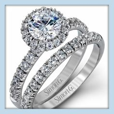 Come in to Lenox Jewelers today to see our amazing collection of engagement rings with matching wedding bands by Simon G. Jewelry!