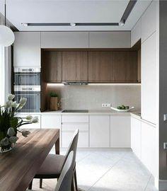 Kitchen Room Design, Kitchen Sets, Modern Kitchen Design, Home Decor Kitchen, Interior Design Kitchen, New Kitchen, Home Kitchens, Compact Kitchen, Kitchen Designs