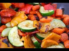 Vegan/ Vegetarian/ Gluten Free/ Paleo Diet ok: Take the time to make your vegetables an interesting and fun part of your dinner menu. These roasted veggies are perfect with Quinoa, organic chicken breast or even just by themselves. Roasted Veggies In Oven, Roasted Vegetable Recipes, Grilled Vegetables, Veggie Recipes, Real Food Recipes, Vegetarian Recipes, Healthy Recipes, Paleo Food, Raw Food