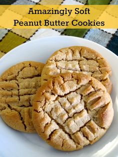 The Granola Chronicles: Amazingly Soft Peanut Butter Cookies