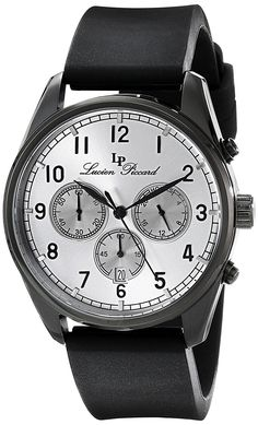 Lucien Piccard Men's LP-10588-BB-02S Moderna Analog Display Japanese Quartz Black Watch *** You can find more details by visiting the image link.