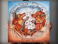 Vulpes vulpes by Alice Macarova, via Behance