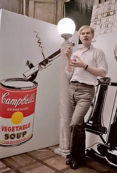 Andy Warhol (American, 1928–1987), artist in his Lexington Avenue art studio #workspace, May 1962. Colorized photo. #arthistory warhol.org