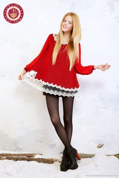 Autumn Decorated Lace Pleated Sleeves Retro