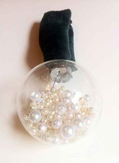 Pearl-filled Ornament | 39 Ways To Decorate A Glass Ornament